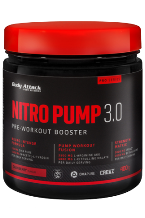 Body Attack Nitro Pump 3.0, 400g - Fruit Punch