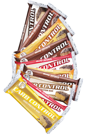 Body Attack Carb Control-Protein Bar - 15 x 100g