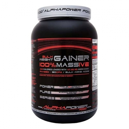 ALPHAPOWER FOOD Bulk Weight Gainer - 2Kg Dose