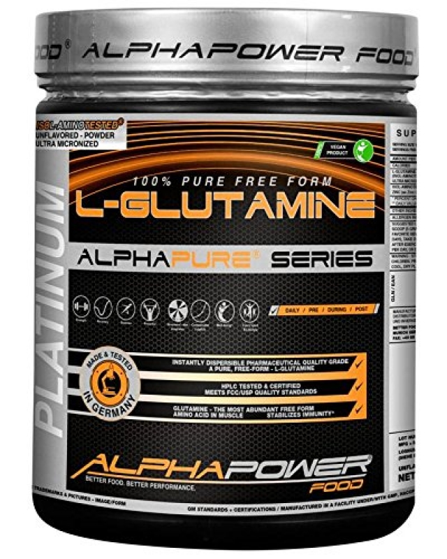 ALPHAPOWER FOOD - L-Glutamine 1Kg Dose
