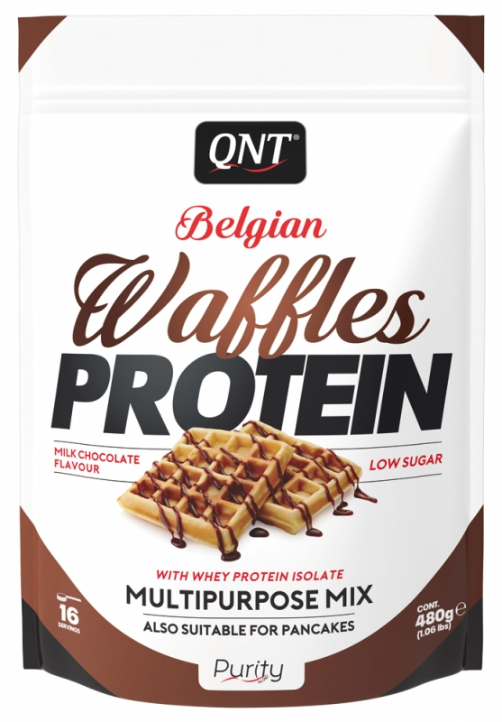 QNT Belgian Waffles Protein 480g Beutel